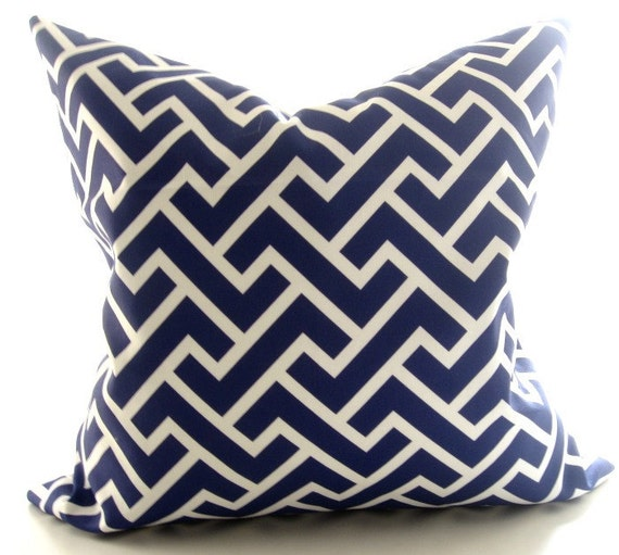 geometric blue and white decorative pillow inch. Black Bedroom Furniture Sets. Home Design Ideas