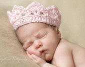Ready To Ship Pink Princess Crown Light Pink Newborn Photography Prop