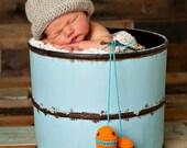 Fisherman Bucket Hat Newborn thru 6 months available  Excellent Photo Prop