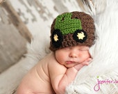 John The Tractor Hat Newborn Thru 6 months size available