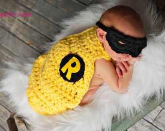 Inspired SuperHero Cape with Mask Newborn Photography Prop