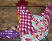 Chicken Tea Cozy PDF Sewing pattern - muffin cozy, cookie cozy,  egg cozy... it's all quilted and cozy