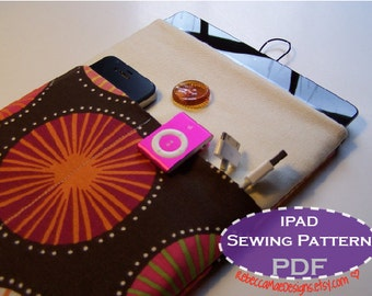 iPad Sleeve PDF PATTERN - sewing diy tutorial for ipad or tablet case