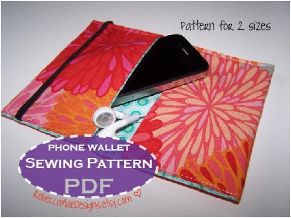 Items Similar To Pdf Pattern Ipod Phone Wallet Case