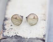 sailboat beige photo post earrings sunset boat