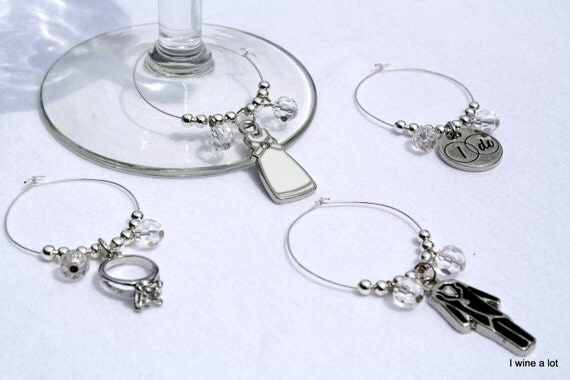 Getting Married Wine Glass Charms