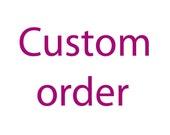 Custom order for Robert. Hand's embroidered Ladubug. Fabric piece