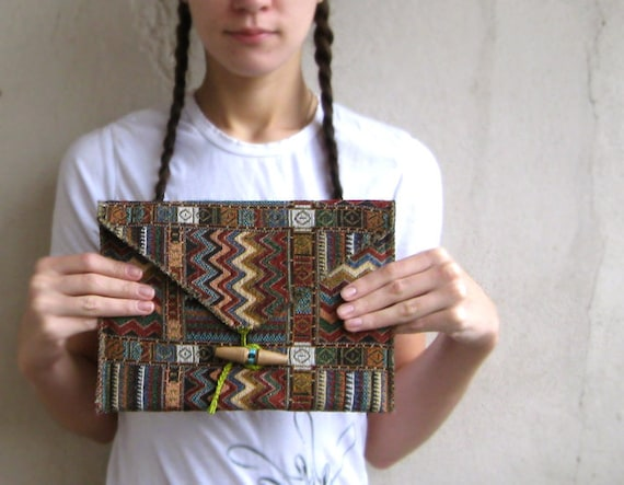 iPad case warm padded Indian Zigzag chevron unisex gift under 50