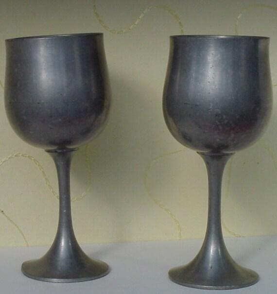 Vintage Selangor Pewter Goblets
