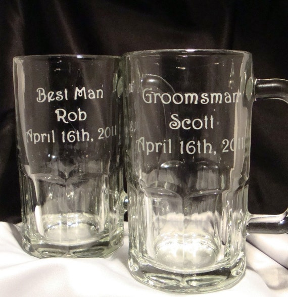 Set of 5 Personalized Beer Mugs For Your Wedding Party - Wedding Discount