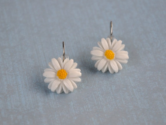 Spring Fashion Daisy Earrings Vintage Cabochon Delicate Jewelry