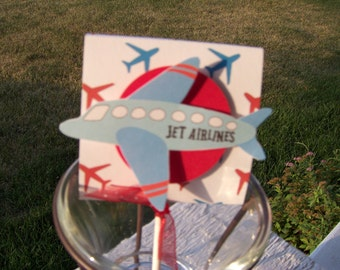 Airplane Lollipop Party Favors  Set of 12