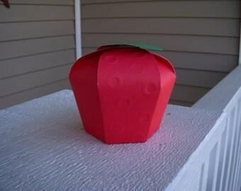 Apple Favor Box set of 10
