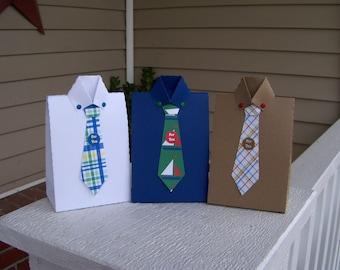 Masculine Preppy Shirt Favor Boxes  Set of 12