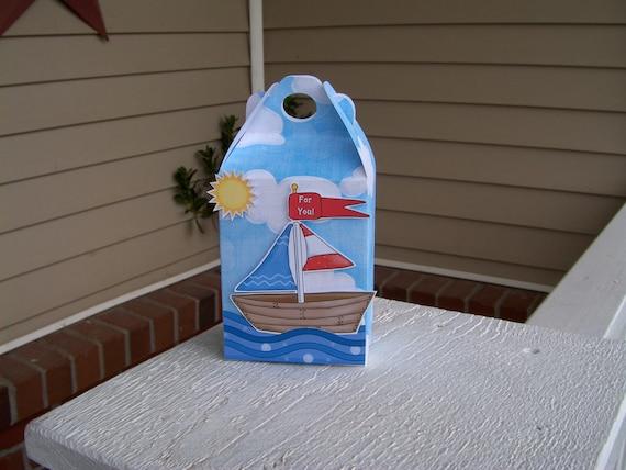 Sailing, Sailing Gable Box  Set of 10