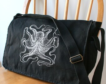 Octopus Messenger Bag Cool Diaper Bag Laptop Carrier Bag for Men