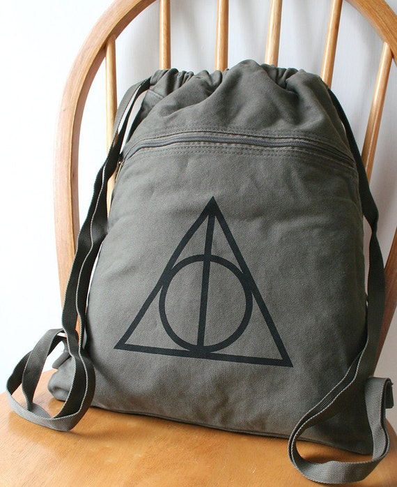 deathly hallows backpack harry potter canvas by. Black Bedroom Furniture Sets. Home Design Ideas