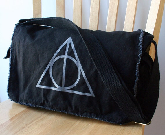Deathly Hallows Messenger Bag Harry Potter Canvas Screen Printed