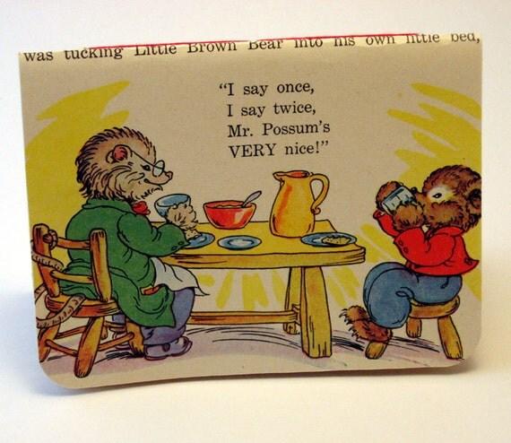 Handmade Notebook - Little Brown Bear & Mr. Possum