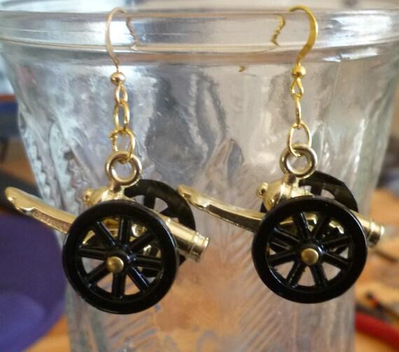 Pirate Cannons Dangle Earrings
