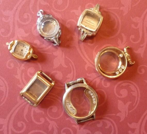 Steampunk Supplies Lot of 6 Vintage Ladies Watch Cases