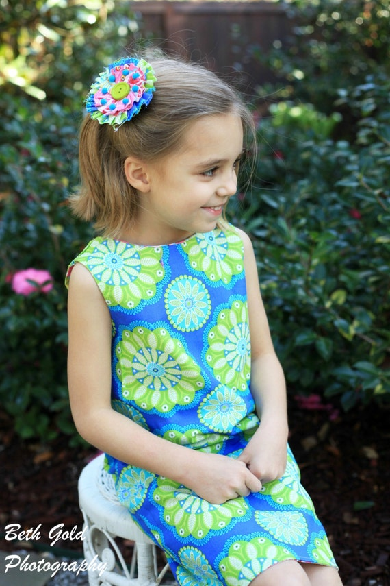 A-Line Dress for girls, Girls sewing pattern, dress tutorial, easy dress, PDF sewing PATTERN