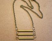 Raw Brass Ladder Necklace