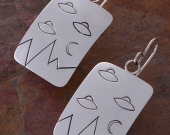 They're Here/   Sterling Silver Earrings