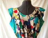 vintage 60s hawaiian designer Karen Ann muumuu top