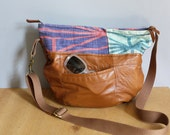 RESERVED  Half Moon Bag.  Hand crafted Leather Shoulder bag.