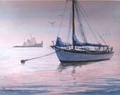 Nantucket Ma Zazenski Original art Painting