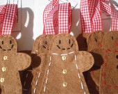Super mixed pack of Gingerbread people x 9 holiday/Christmas decorations