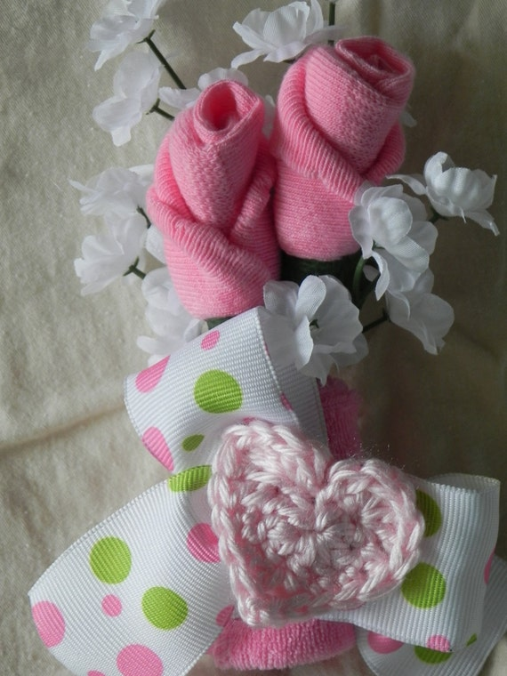 mommy to be corsage baby shower sock rose gift