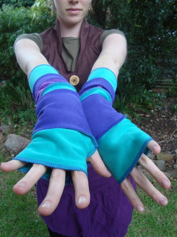Water Sprite Fingerless Gloves Arm Warmers