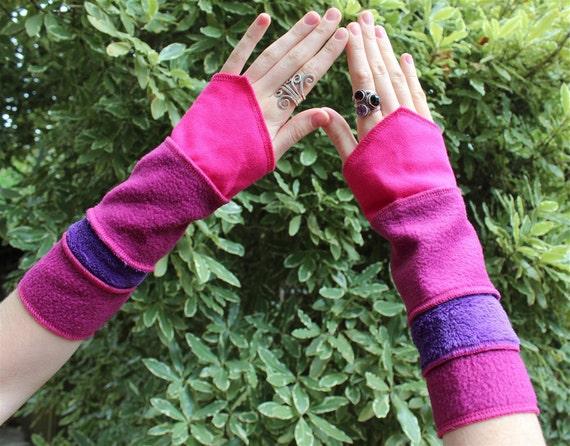Pink, Purple Arm Warmers