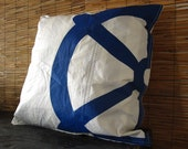 """25"""" x 25"""" Recycled Sail Pillow Case"""