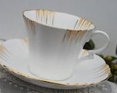 Royal Albert Crown China Art Deco Tea Cup and Saucer, circa 1920s or 30s
