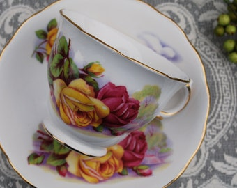 Royal Osborne Rose Tea Cup and Saucer