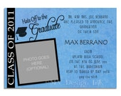 Graduation Announcement or Invitation, College, University Graduation, Graduation Announcement - Digital File You Print