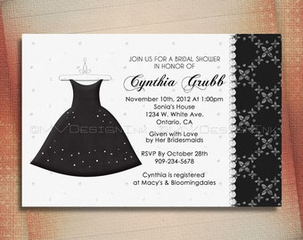 Bridal Shower Invitation, Bachelorette Party Invite, Girls Night Out Party Invite or Quinceañera Birthday Invitation-DIY