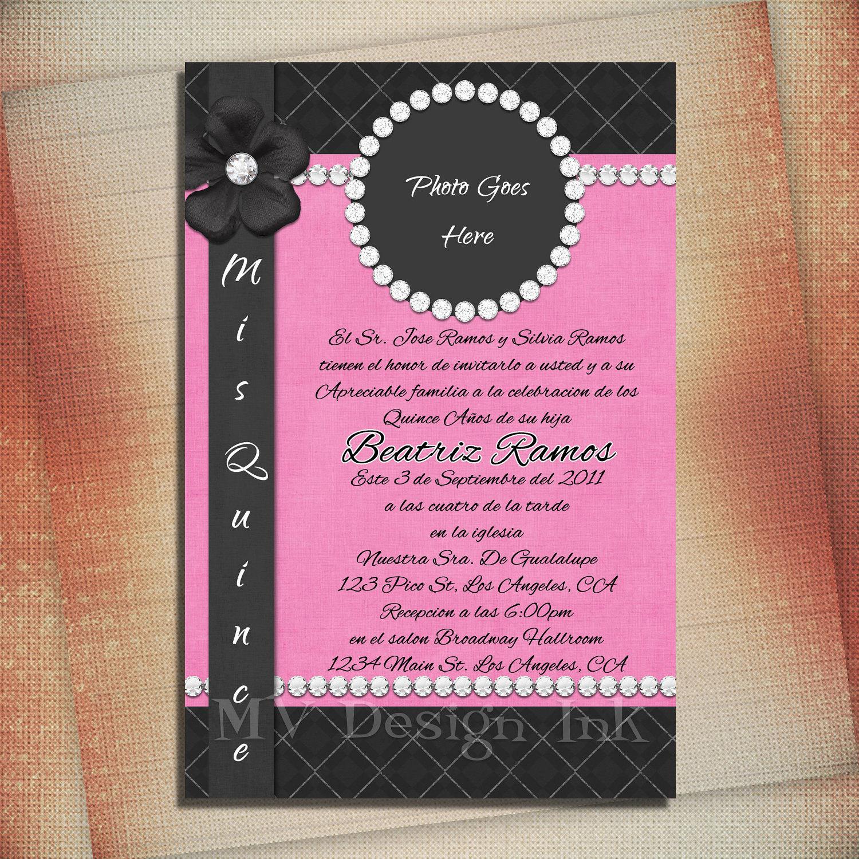 Sweet Sixteen Birthday Invitation Quincea era Birthday – Quince Party Invitations