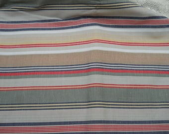 Sale! Great Cotton Stripped Fabric   2 Yards Plus, 45 Inches Wide Sewing Supplies Fabric Material Fabric Sewing Yardage  Supplies