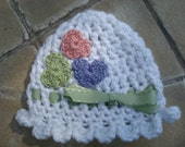 Baby Girl Crochet Hat  - Ready to Ship