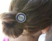 Justin Bieber --Bieber Fever-- Bottlecap Hair Pin perfect for little girl to teen