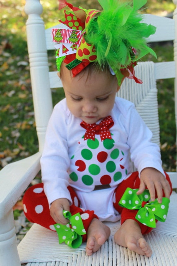 Over The Top Boutique Christmas outfit -- Grinch inspired -- Leg Warmers and Bodysuit