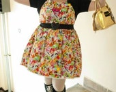 Neon Fauxkidoki Set - Jumperskirt with two matching bows