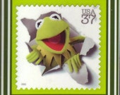 Lapel Pin with Kermit the Frog