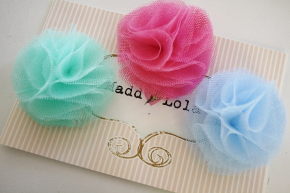 50% OFF SALE ITEM Fairy Floss Tulle Netting Hair clips