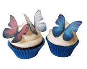 24 Edible Butterflies - Red White and Blue - 4th Fourth of July - wafer paper butterflies