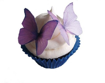 SPRING Cake Ideas  - Edible Butterflies in 24 Purple and Lavender - Wedding Cupcake, Cupcake Supplies, Cupcake Shop